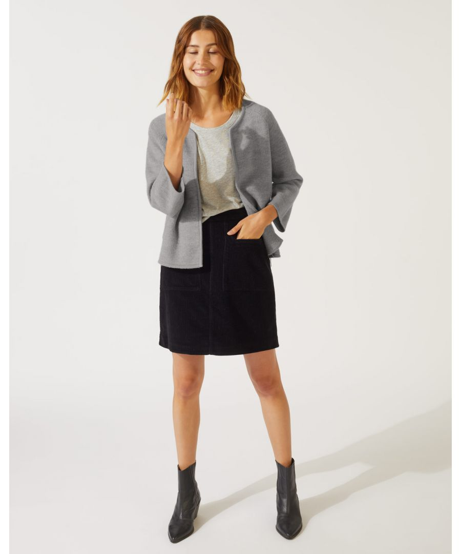 Image for Boiled Wool Side Zip Jacket
