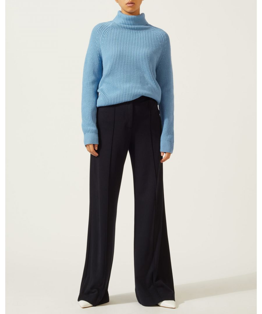 Image for Roll Neck Slouchy Rib Jumper