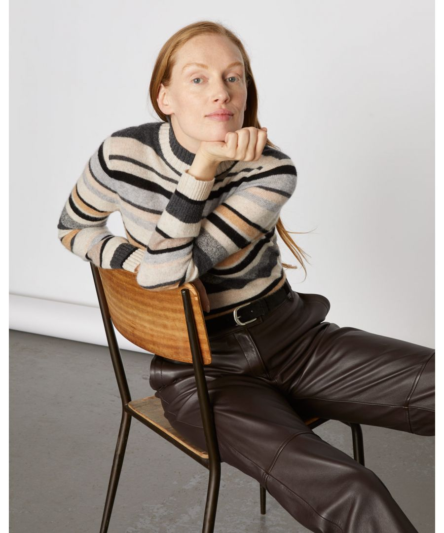 Image for Cashmere Mixed Stripe Jumper