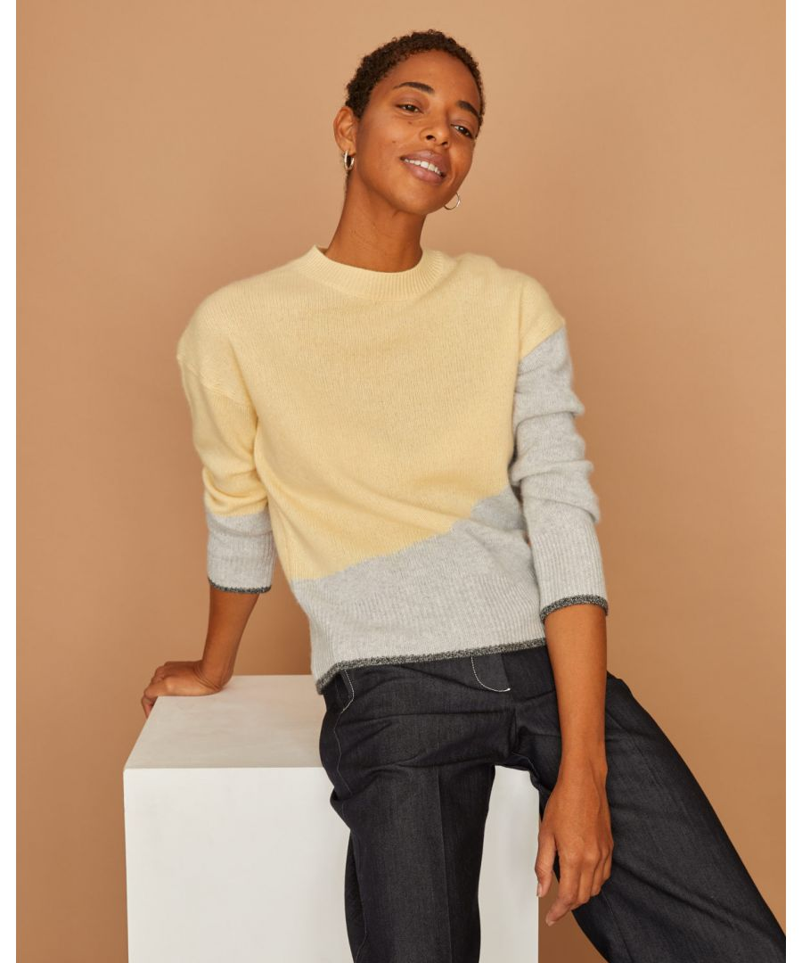 Image for Cashmere Colour Block Jumper