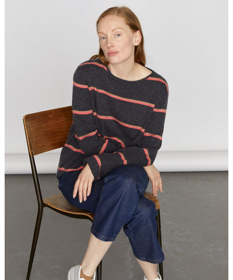 Image for Cashmere Stripe Slouchy Jumper