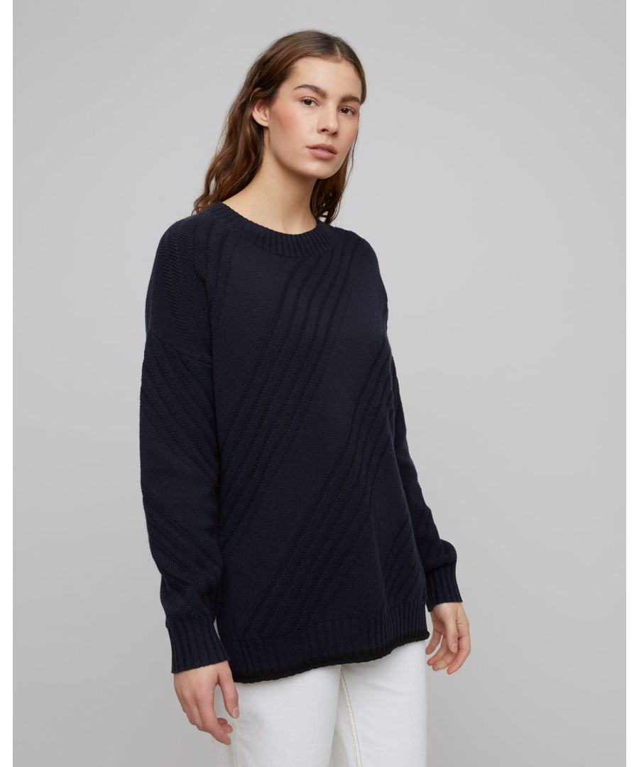 Image for Textured Stitch Slouchy Jumper