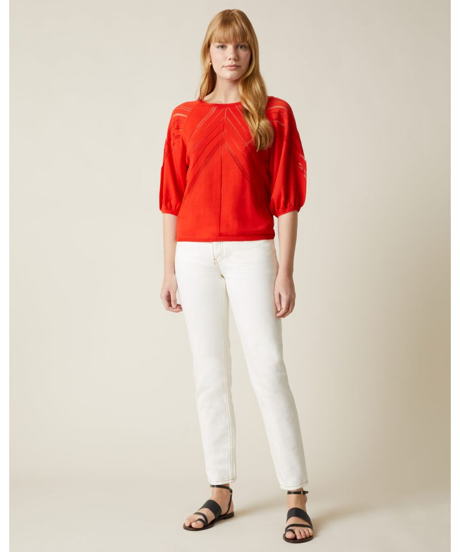 Image for Pointelle Lace Line Jumper