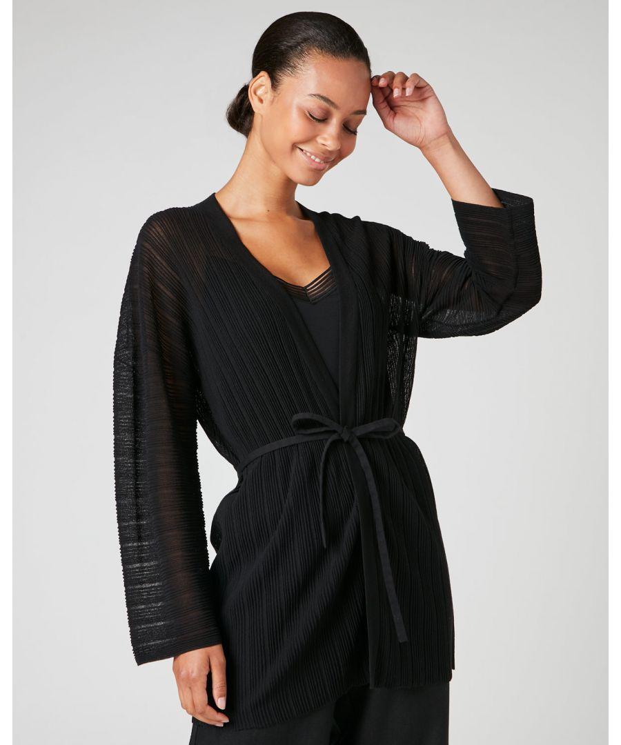 Image for Plisse Kimono Cardigan