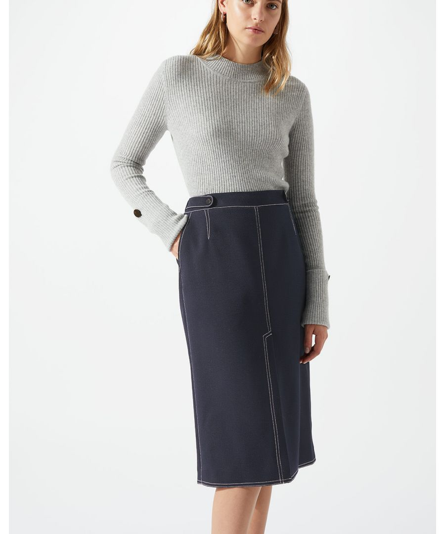 Image for Compact Twill Pencil Skirt