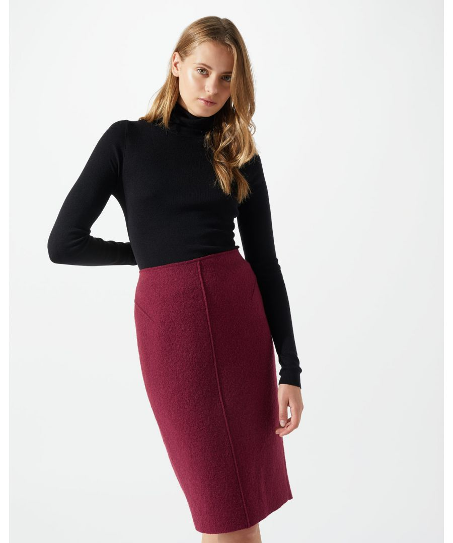 Image for Boiled Wool Pencil Skirt