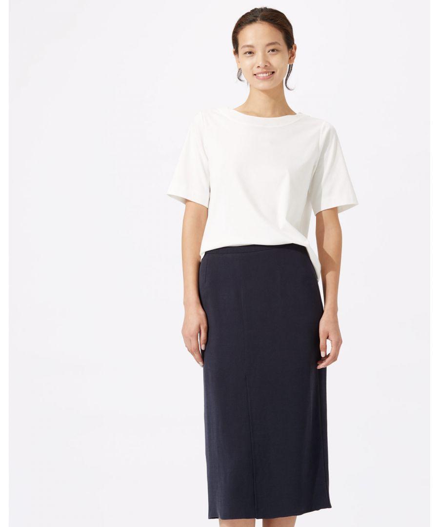 Image for Sandwashed Crepe Wrap Skirt