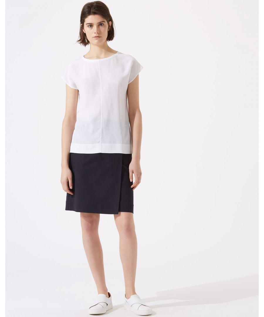 Image for Zip Detail Utility Skirt