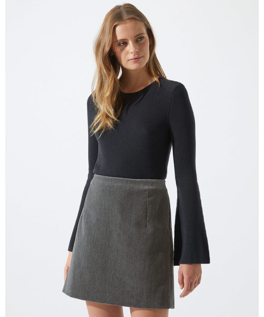 Image for Brushed Velvet Mini Skirt
