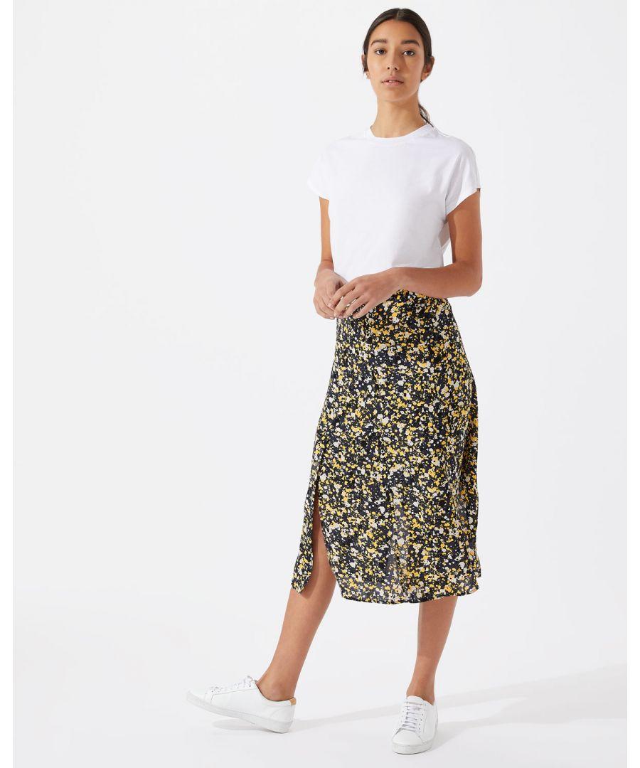Image for Splatter Print Split Skirt