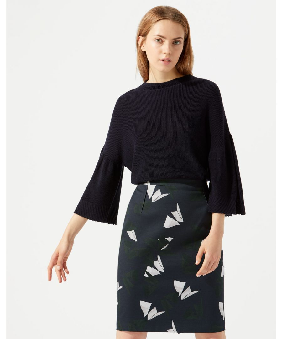 Image for Abstract Strokes Pencil Skirt
