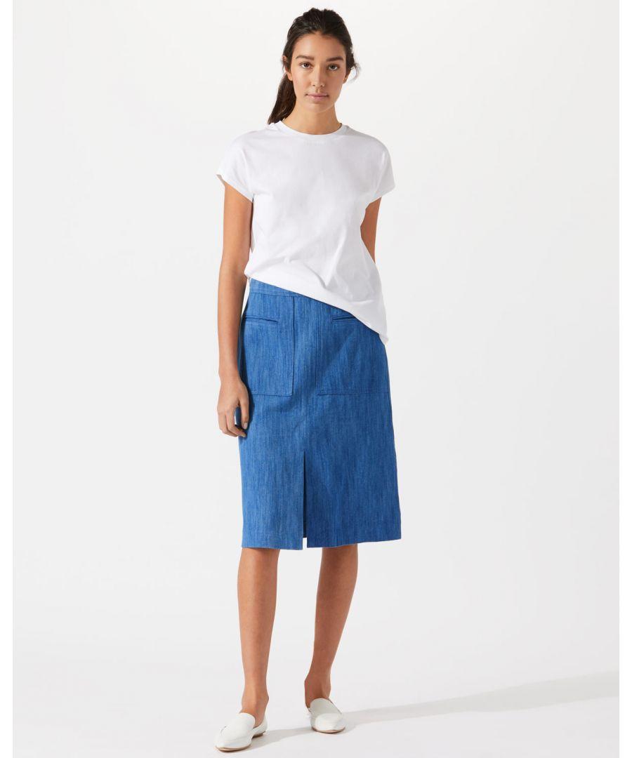 Image for Denim Pencil Skirt