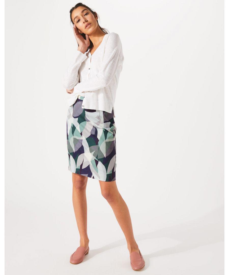 Image for Woven Leaves Pencil Skirt
