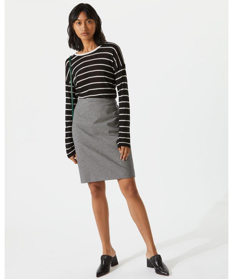 Image for Micro Check Pencil Skirt