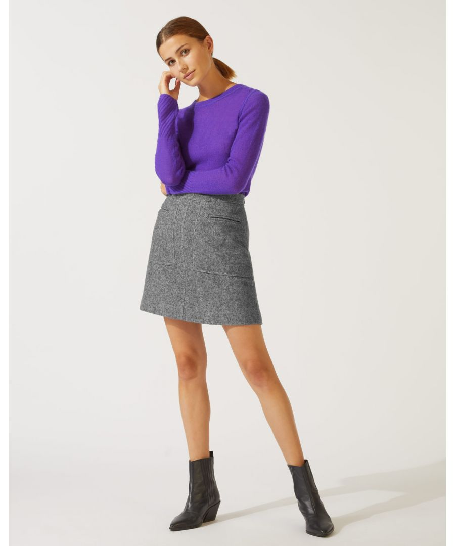 Image for Herringbone Mini Skirt