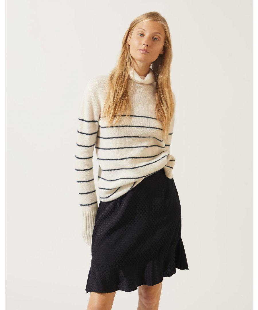 Image for Spot Jacquard Frill Hem Skirt