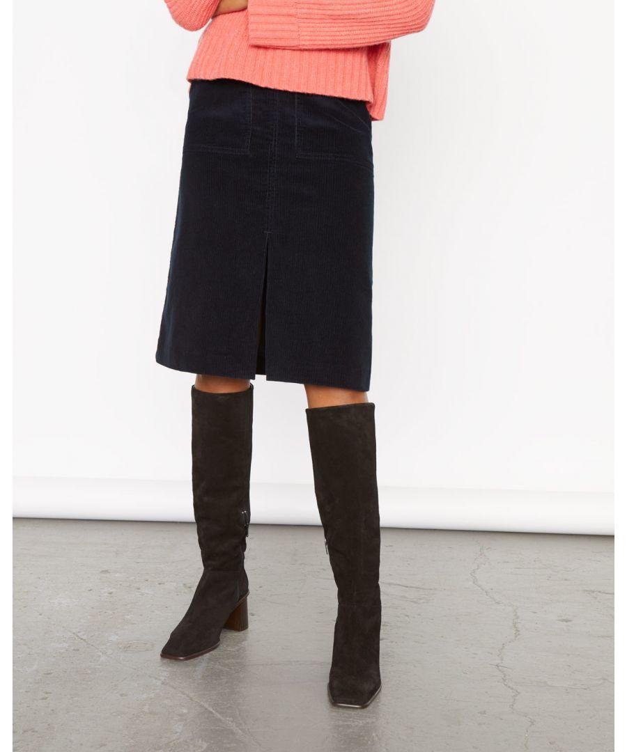 Image for Cord Split Midi Skirt