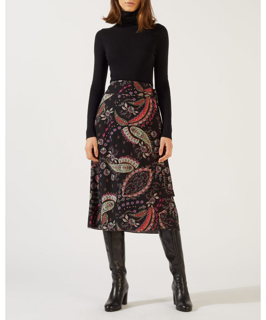 Image for Paisley Wrap Midi Skirt