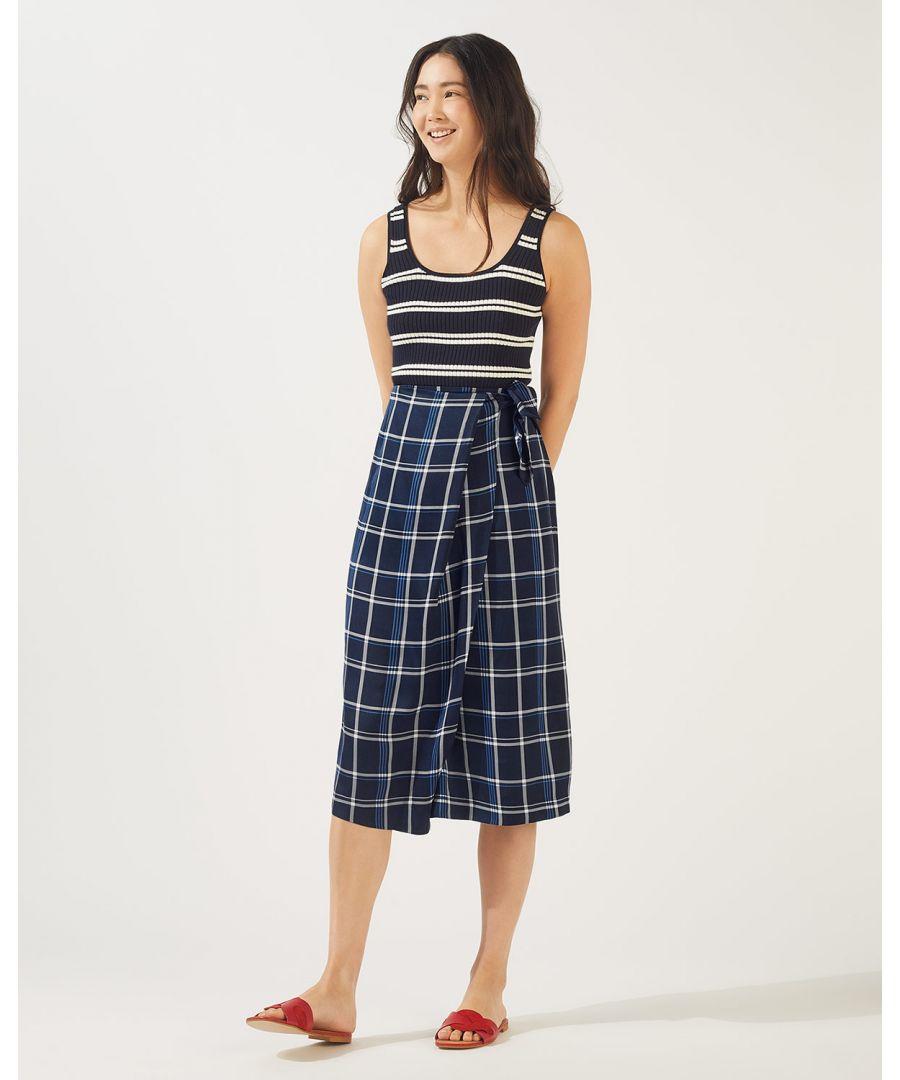 Image for Check Midi Skirt