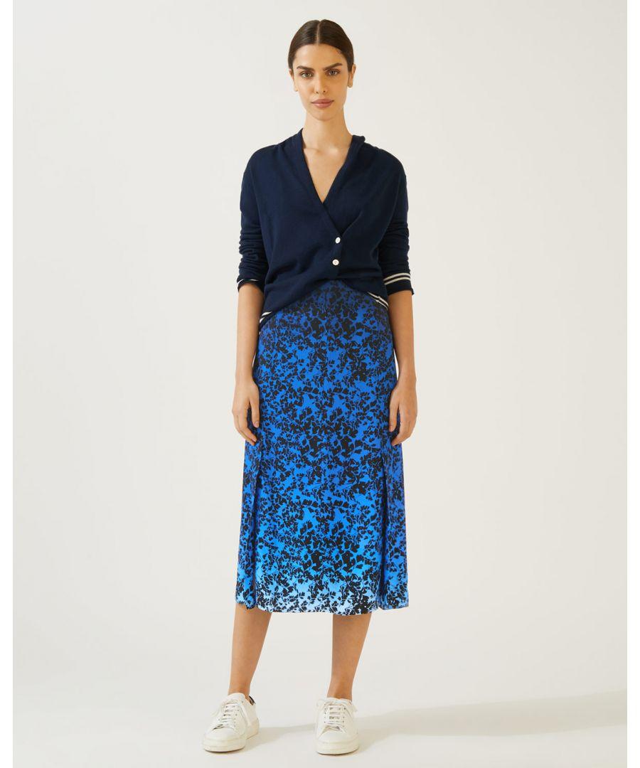 Image for Sunset Floral Midi Skirt