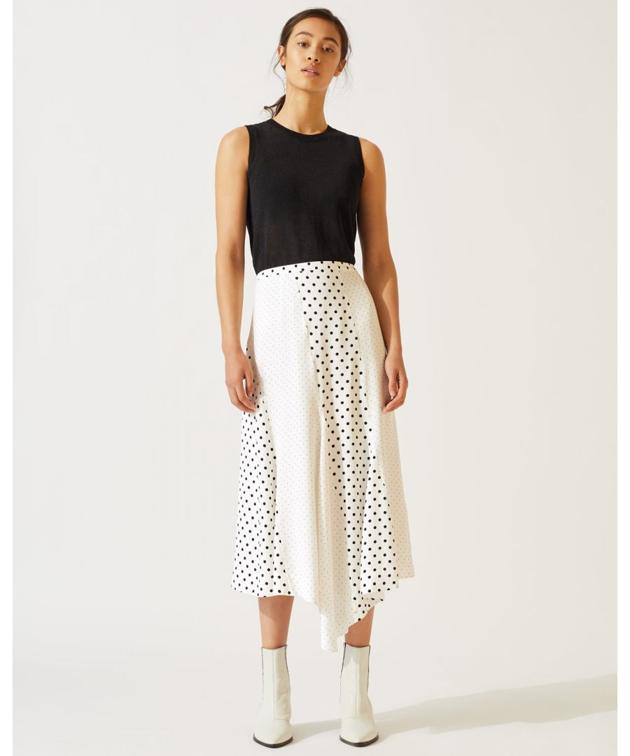 Image for Mixed Spot Asymmetric Skirt