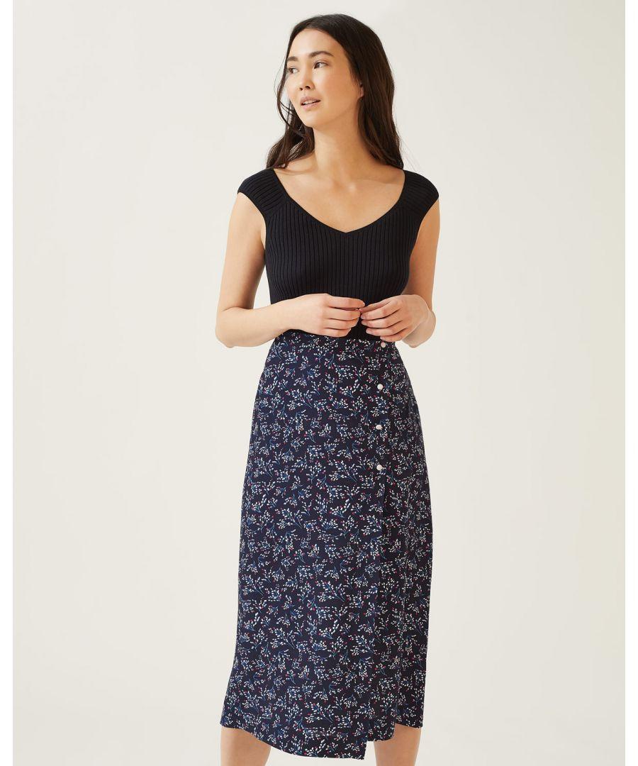 Image for Sophelia Midi Wrap Skirt