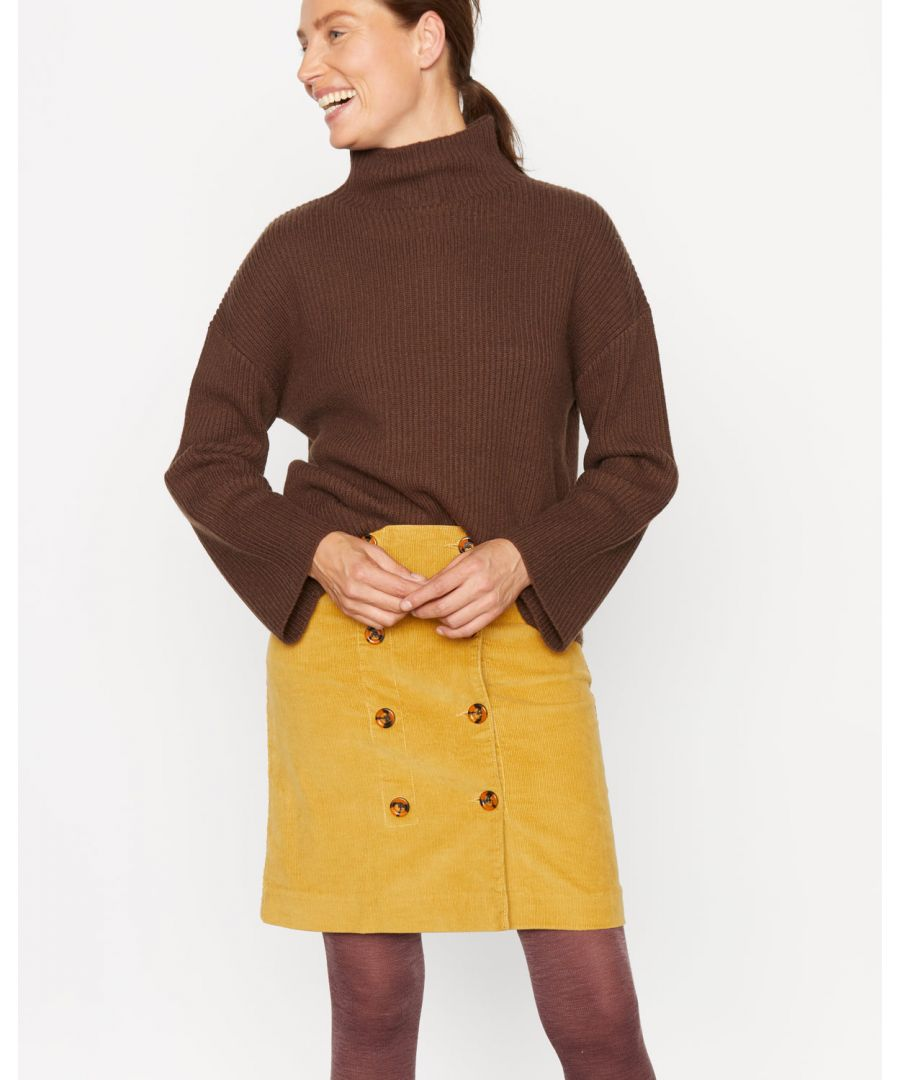 Image for Cord Double Button Skirt