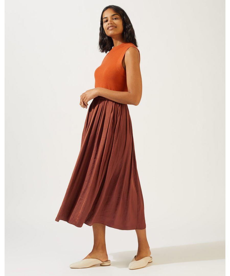 Image for Crocus Drape Pleated Skirt