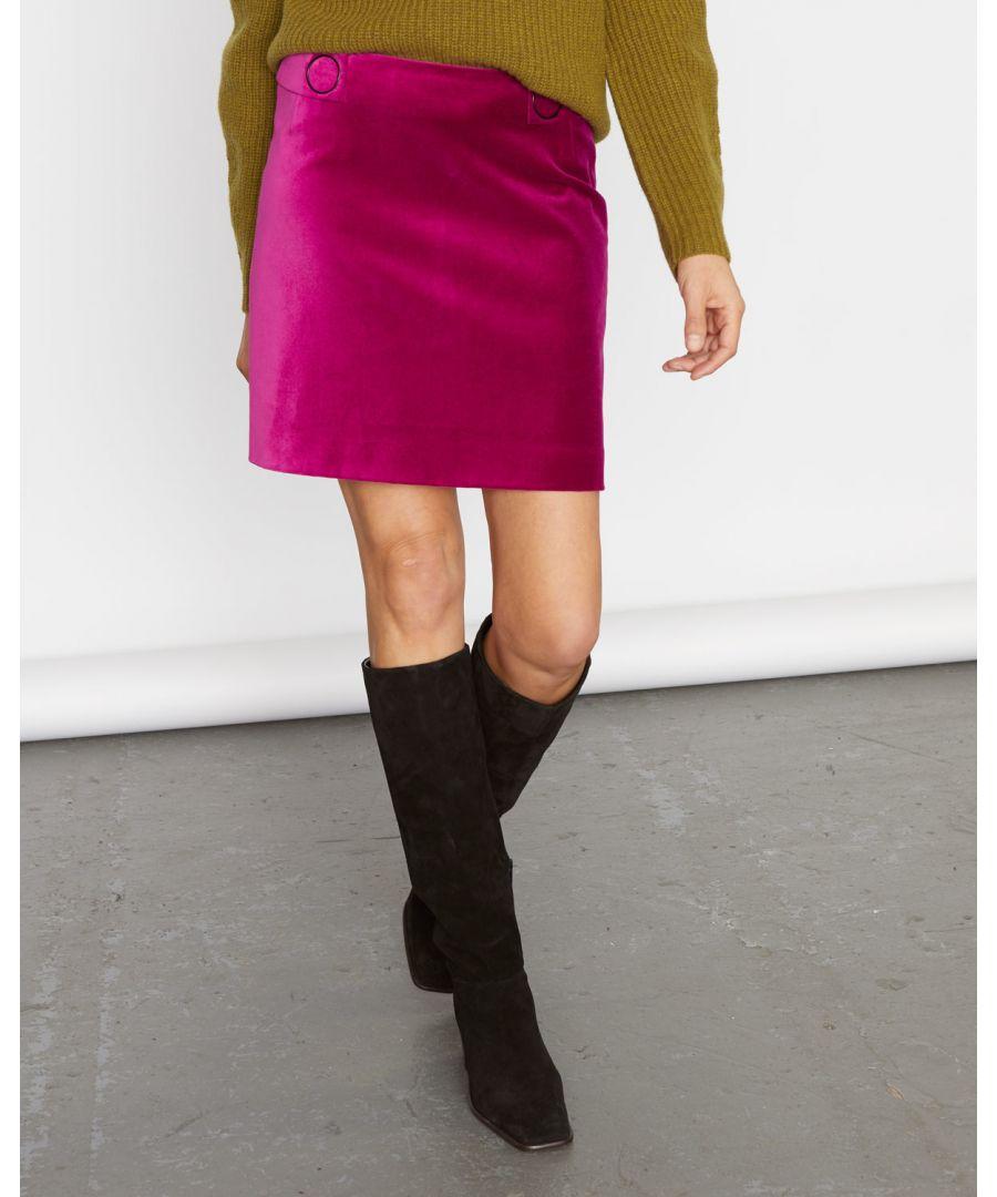 Image for Velvet Mini Skirt