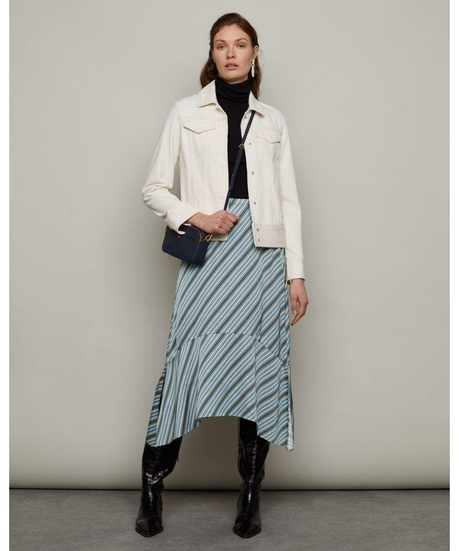 Image for Multi Stripe Handkerchief Midi