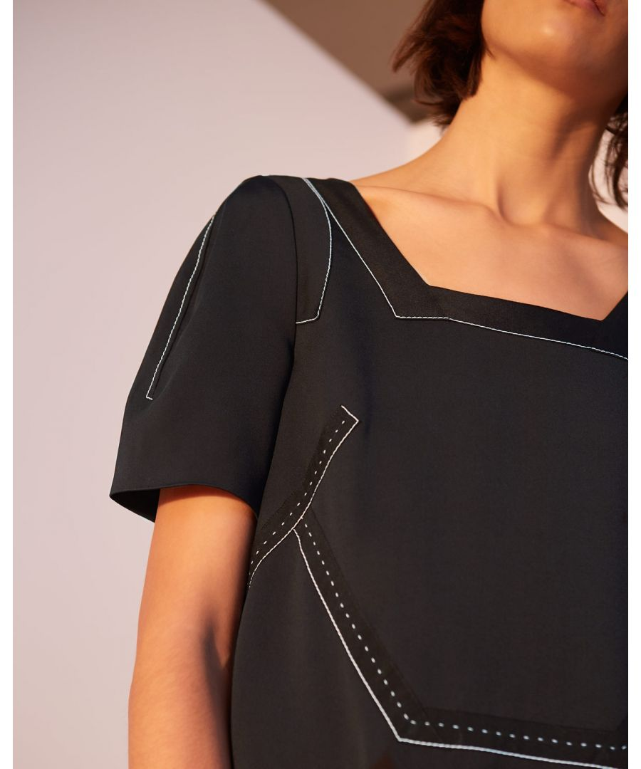 Image for A- Leigh Stitch Detail Dress