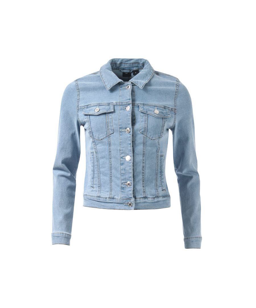 Image for Women's Vero Moda Hot Soya Denim Jacket in Light Blue