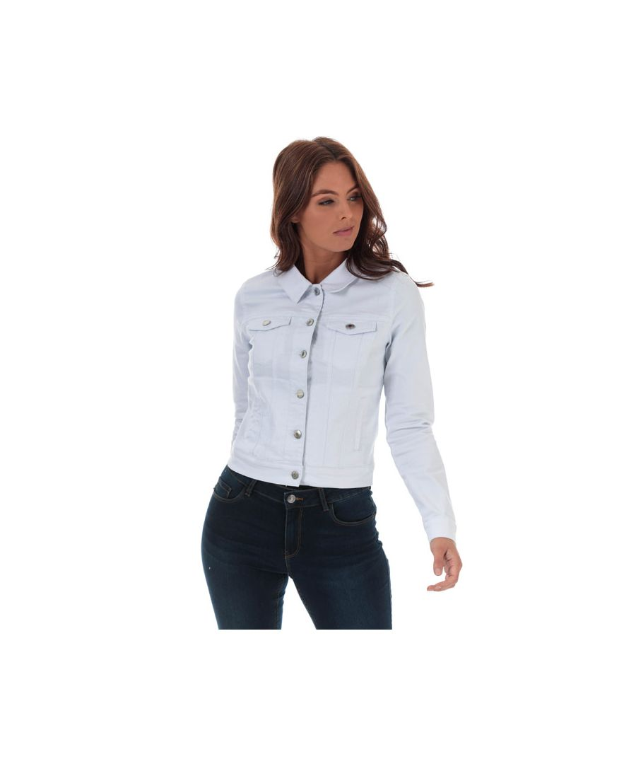 Image for Women's Vero Moda Hot Soya Denim Jacket in White