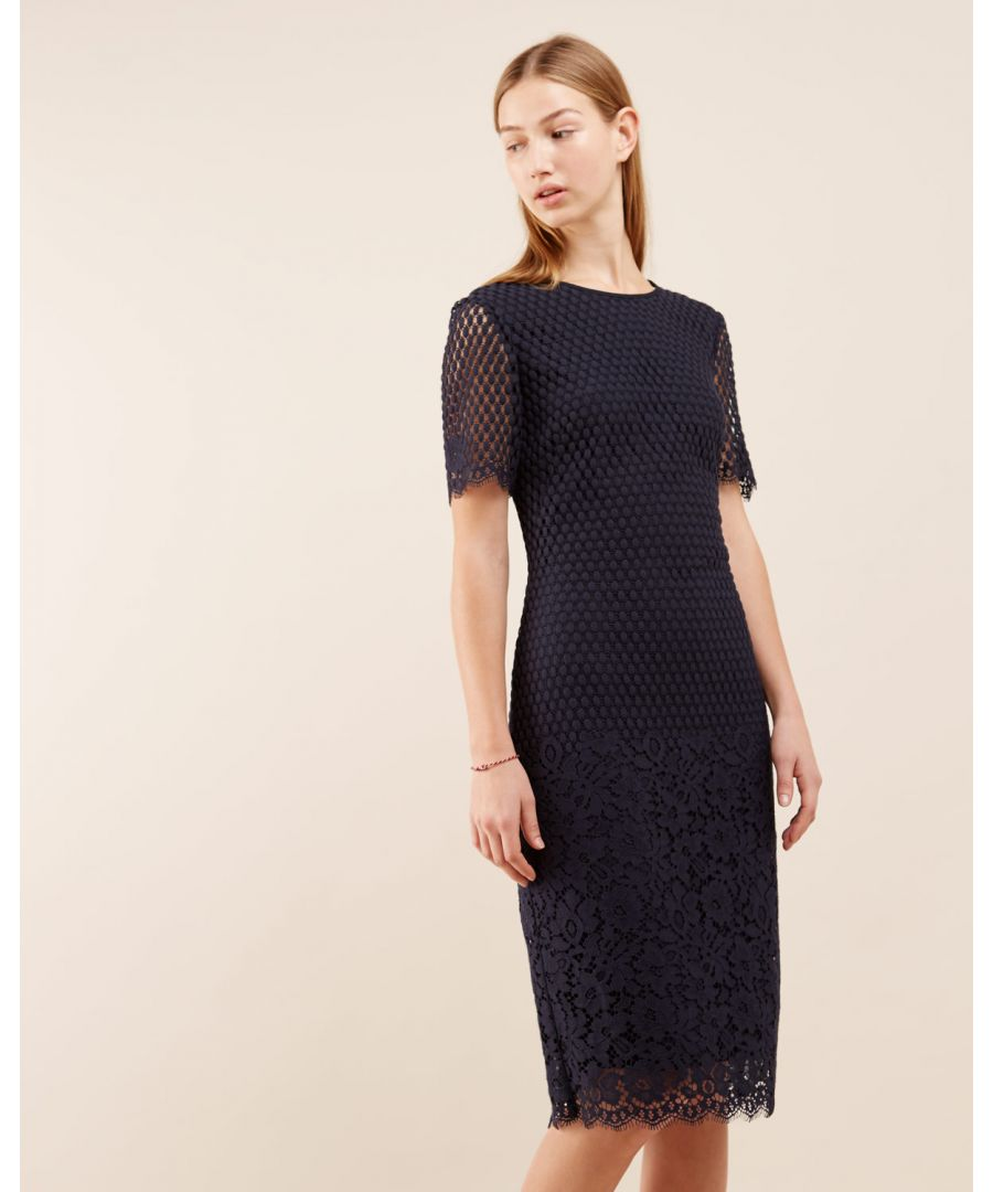 Image for Floral Engineered Lace Dress