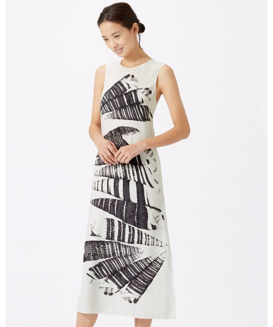 Image for Cerith Stripe Silk Midi Dress