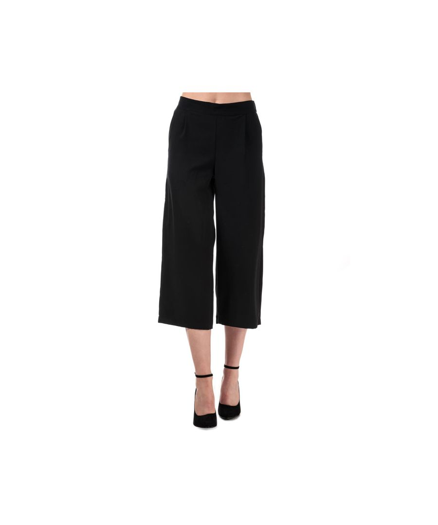 Image for Women's Vero Moda Coco High Waist Culotte Trousers in Black