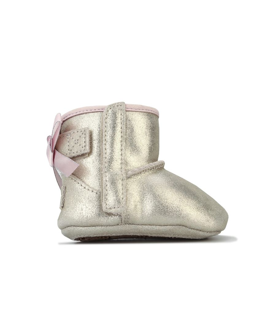 Image for Girl's Ugg Australia Infant Jesse Bow Metallic Boots in Gold