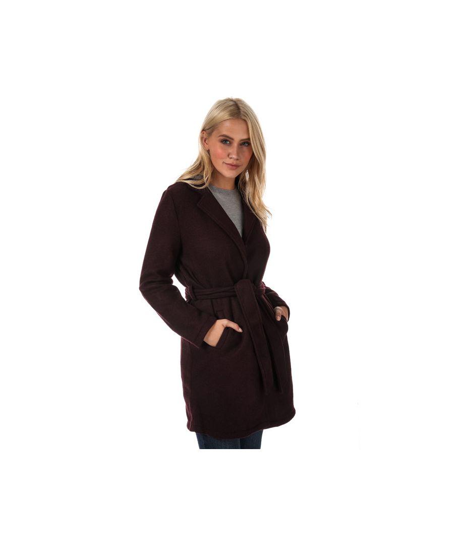 Image for Women's Vero Moda Nina Brushed Jacket in wine