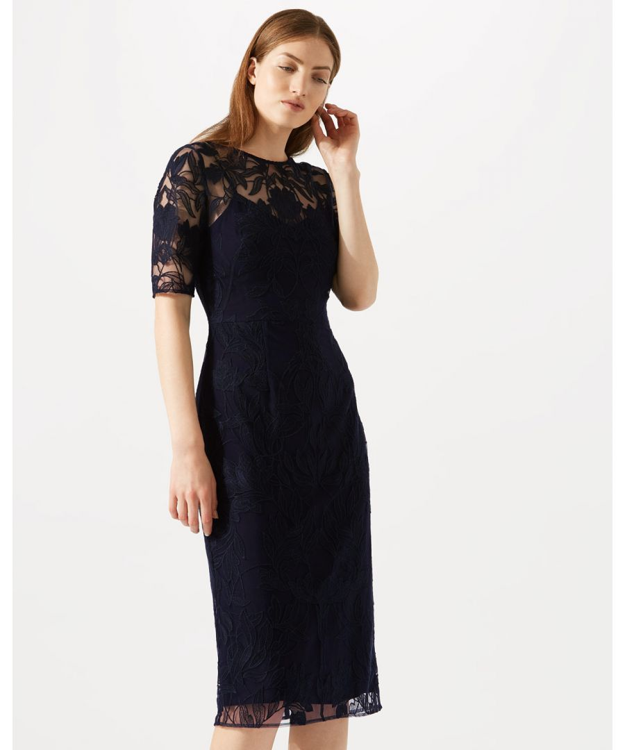Image for Embroidered Short Sleeve Dress