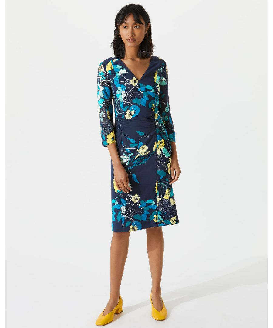 Image for Botanical Trail Ruched Dress