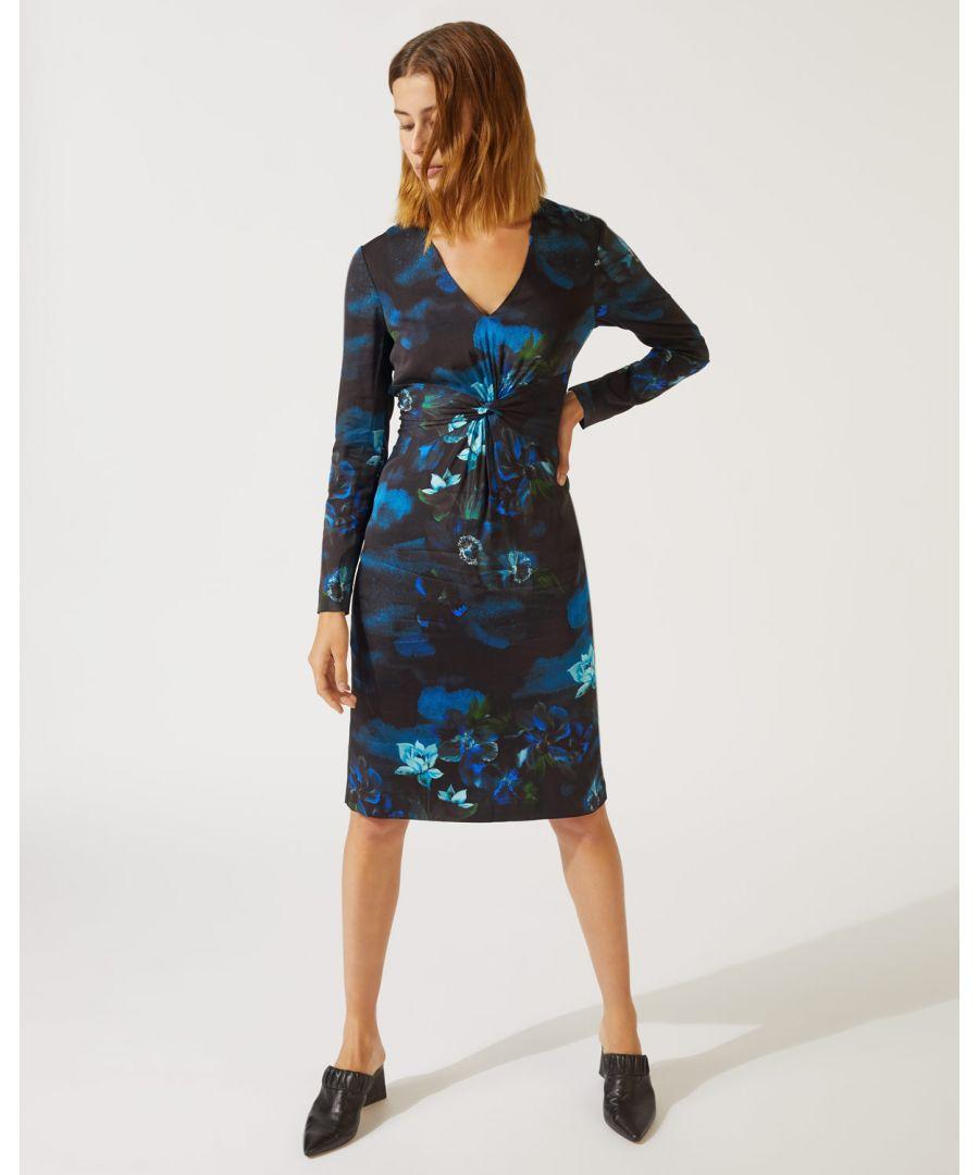Image for Romantic Floral Twist Dress