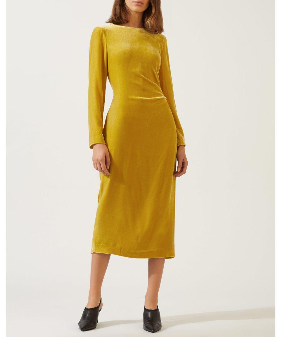 Image for Velvet Ruched Maxi Dress