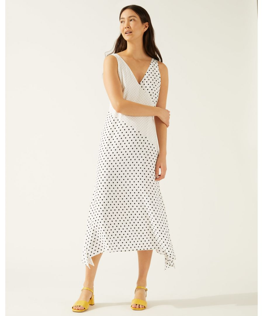Image for Mixed Spot Maxi Dress