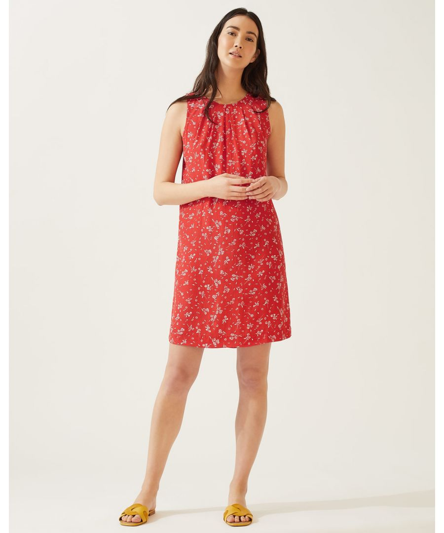 Image for Dandelion Pleat Neck Dress