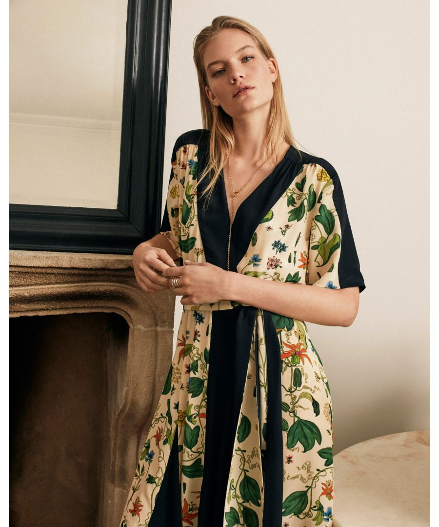 Image for Chinoiserie Floral Wrap Dress