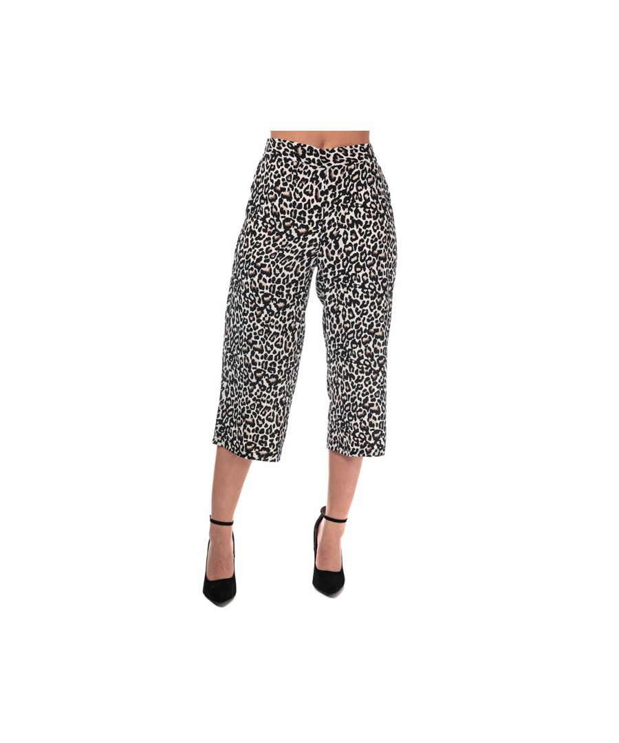 Image for Women's Vero Moda Saga High Waist Culotte Trousers in Oatmeal