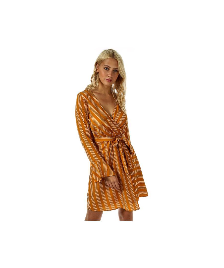Image for Women's Vero Moda Nicky Long Sleeve Dress in Mustard