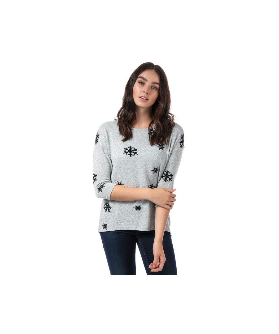 Image for Women's Vero Moda Snowflake Jumper in Light Grey