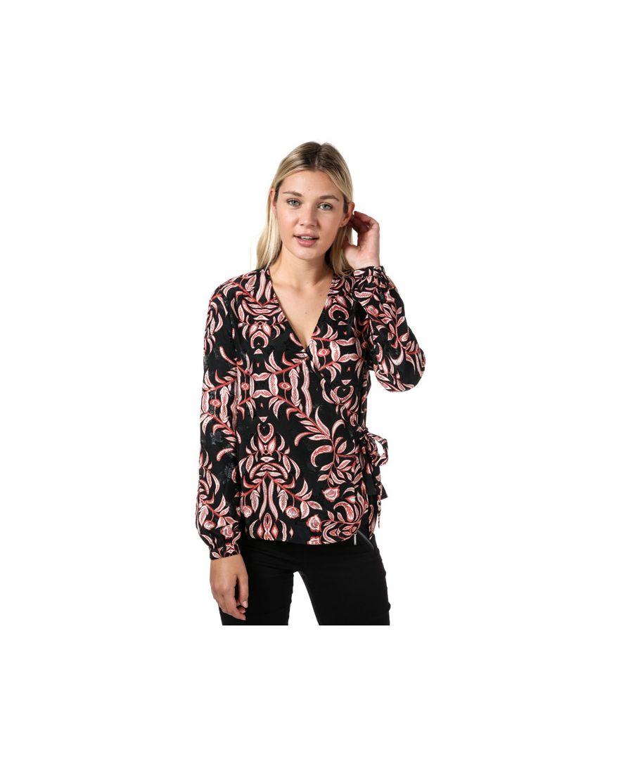 Image for Women's Vero Moda Gyana Long Sleeve Wrap Top in Red