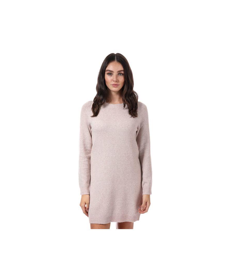 Image for Women's Vero Moda Doffy Lurex Jumper Dress in Rose